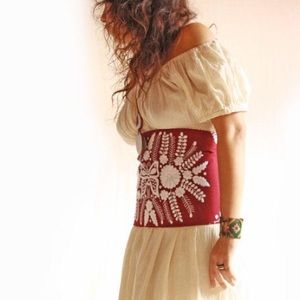Mexican corset embroidered belt